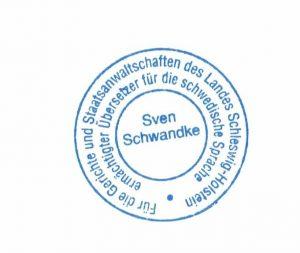 beglaubigte übersetzung schwedisch deutsch